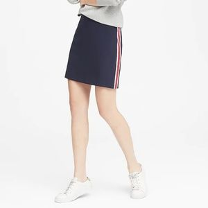 Banana Republic Petite Side-Stripe Mini Skirt 00P